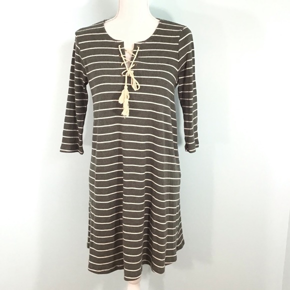 She and Sky Dresses & Skirts - Pretty Sweater Dress with Lace Up Chest Size Large